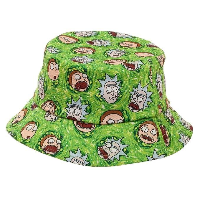 Amazon.com  RICK AND MORTY Cartoon Network Portal Bucket Hat  Clothing b2dd4371a5c