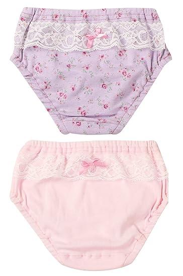 42a6ac81a365d Amazon.com  Baby Girls Underwear Flower Printed Soft Cotton Briefs 2 ...