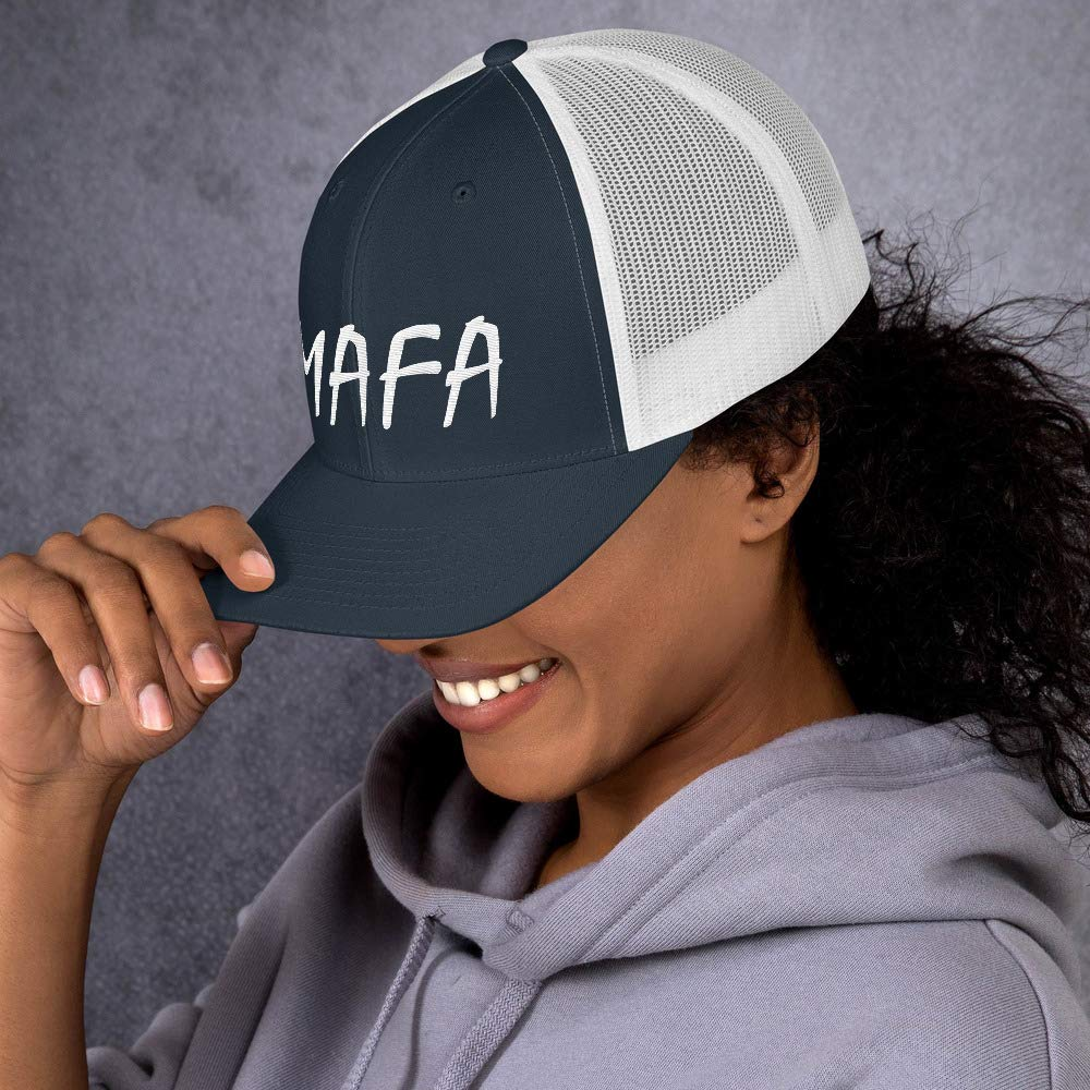 Move America Forward Again MAFA Trucker Cap White Embroidery