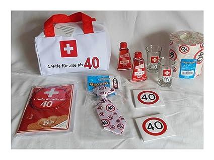1hilfe Tasche Gefüllt 40 40ster Geburtstag Erste Hilfe Mit Inhalt