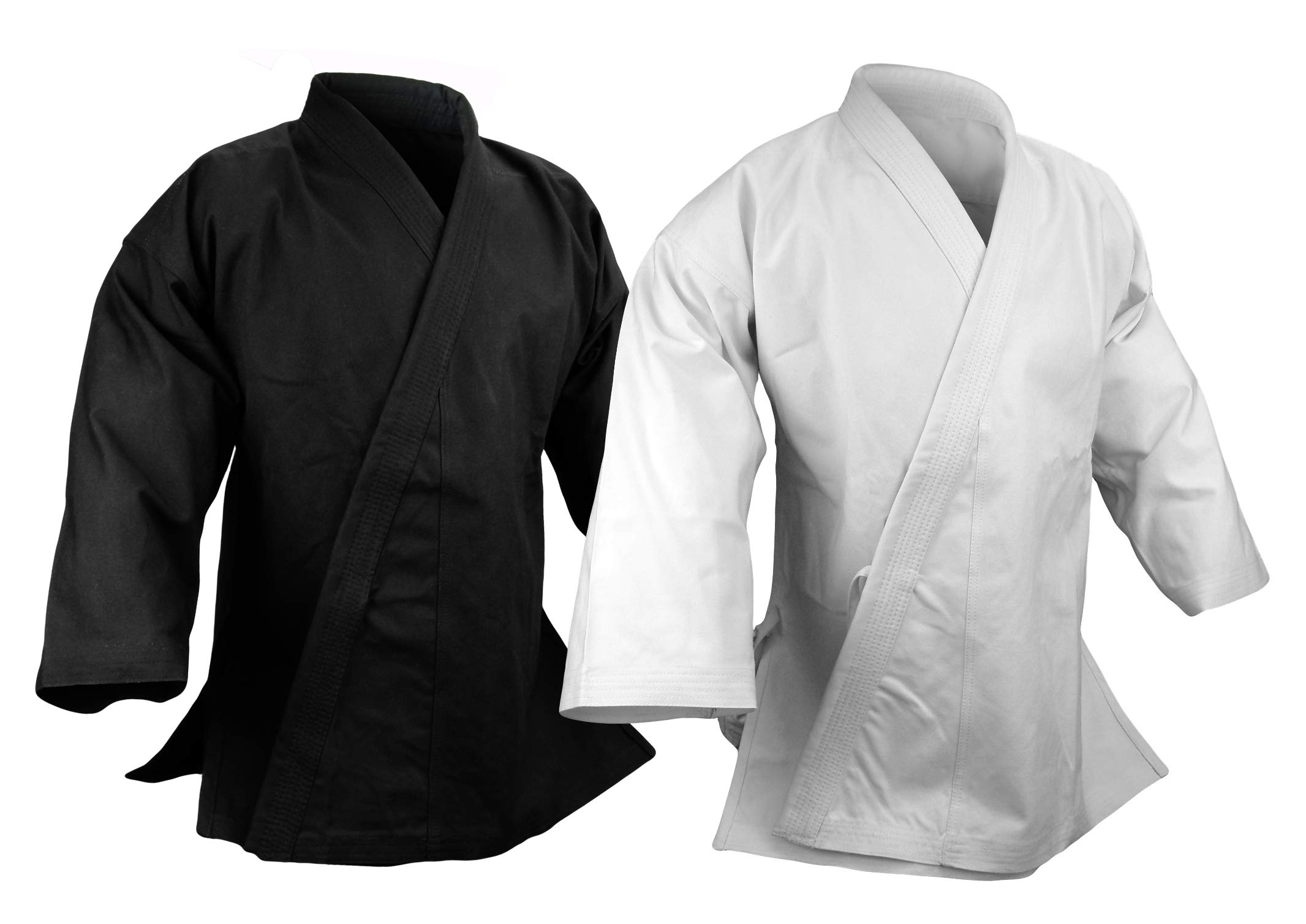 Prowin Corp 14 oz Ultra Heavy Karate Jacket Uniform Martial Arts Gi Black or White (Black, 7) by Prowin Corp