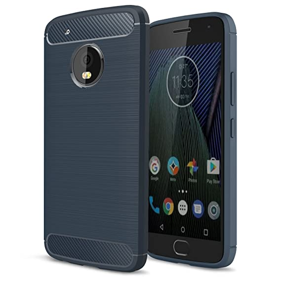 half off fa724 0f65f AnoKe Compatible with Motorola Moto G5 Plus Case,Ultra Slim Fit Thin Carbon  Fiber Scratch Resistant Shock Absorption Soft TPU Drawing Protective Cases  ...