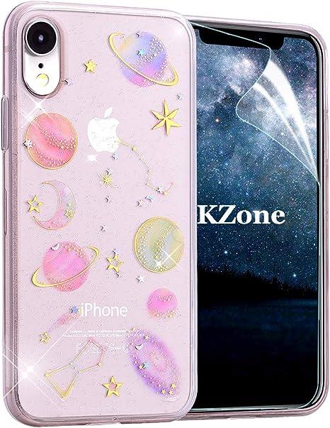 OKZone Funda iPhone XR, [Serie Cielo Estrellado] Cárcasa Brilla Glitter Brillante TPU Silicona Teléfono Smartphone Móvil Case [Protección a Pantalla y Cámara] para Apple iPhone XR 6.1 Pulgada: Amazon.es: Electrónica
