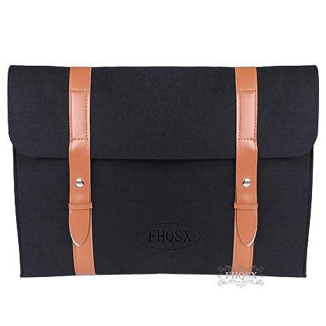 Fieltro portátil bolsa de funda para portátil ordenador portátil caso pantalla protectora con mango de piel