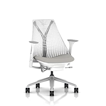 Astounding Herman Miller Sayl Ergonomic Office Chair With Tilt Limiter And Carpet Casters Stationary Seat Depth And Arms Studio White Frame With Fog Crepe Ocoug Best Dining Table And Chair Ideas Images Ocougorg