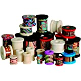 School Specialty 1006413 Wood Craft Spool Assortment, Assorted Sizes/Colors