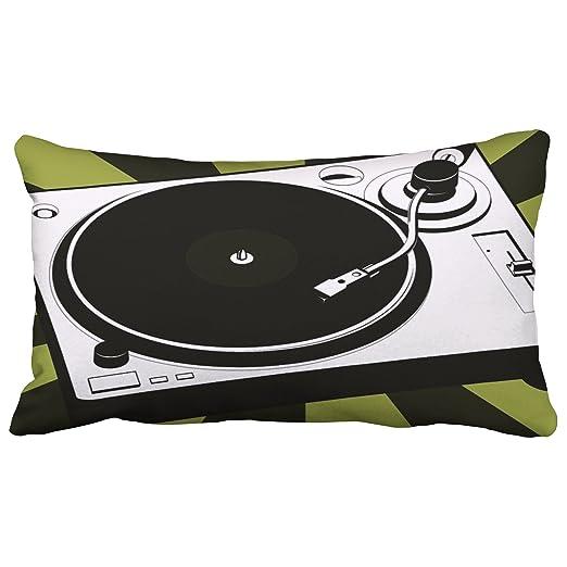 emvency manta fundas de almohada de tocadiscos DJ música disco ...