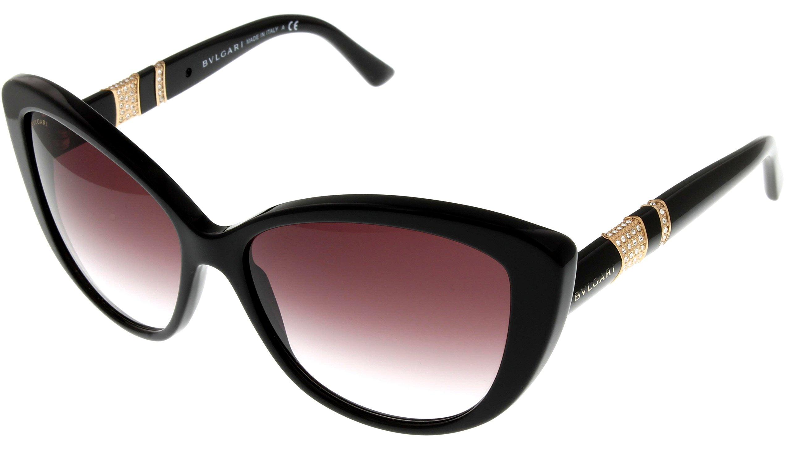 Bvlgari Sunglasses Womens Black Cateye BV8151B 501/8H