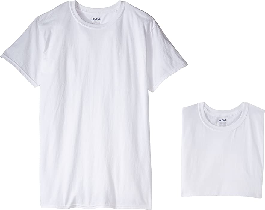 ec544ae3e434 Gildan Men s 5-Pack Premium 100% Cotton White Crewneck T-Shirts (Small