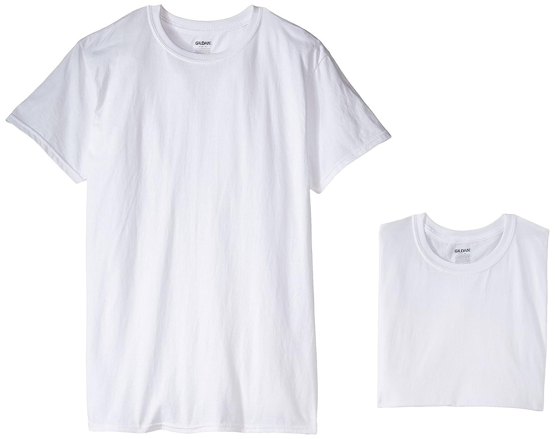 Gildan Mens 5-Pack Premium 100/% Cotton White Crewneck T-Shirts
