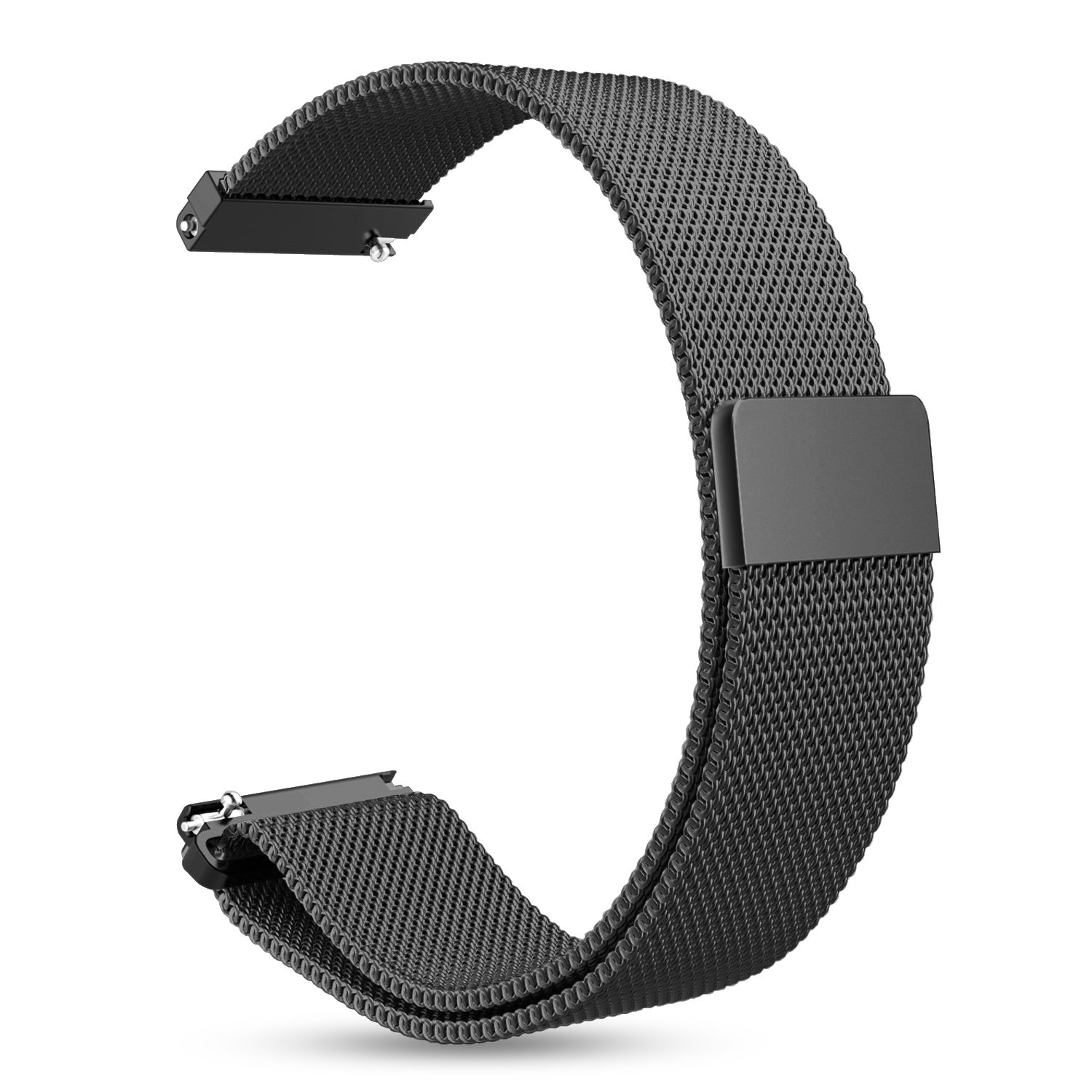 Gear Sport/Gear S2 Classic Watch Band, Fintie 20mm Milanese Loop Adjustable Stainless Steel Replacement Strap Bands for Samsung Gear Sport/Gear S2 Classic Smartwatch - Black