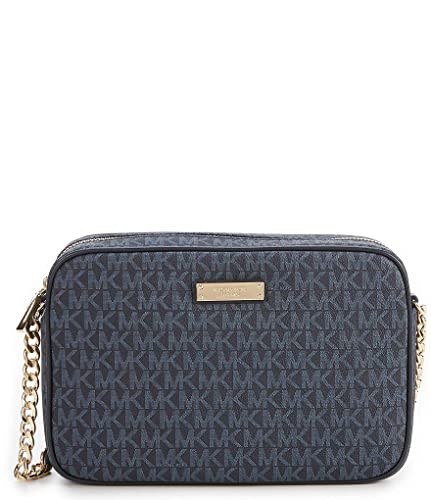 b2bc82d4800fb8 Michael Kors Jet Set Signature Large EW Crossbody, Admiral/Pale Blue ...