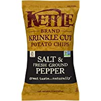 Kettle Chips Salt and Freshground Pepper, Krinkle-Cut, 142g