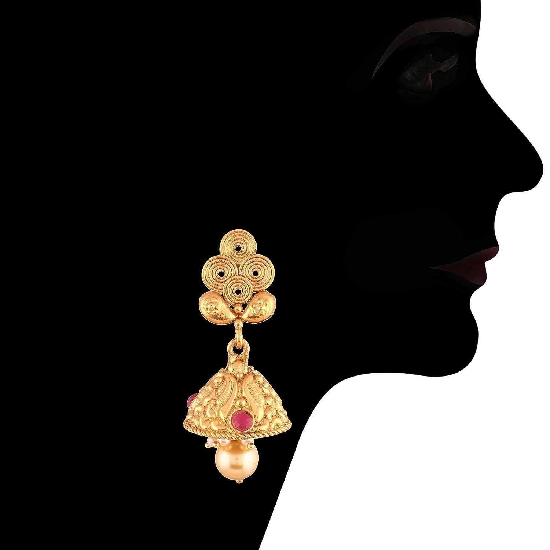 M4067QG I Jewels Choker Style Gold Plated Jewellery Set For Women