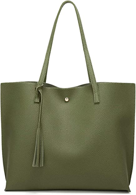 Women/'s Shoulder Handbags Ladies Tote Bags Faux Leather Designer Large New