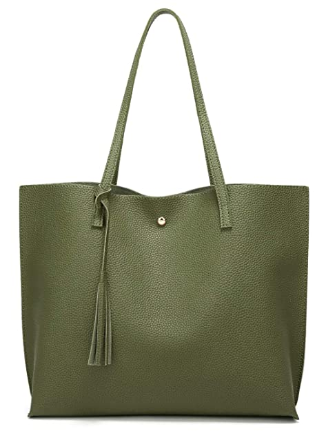 cb15a59f993 Amazon.com  Women s Soft Leather Tote Shoulder Bag from Dreubea