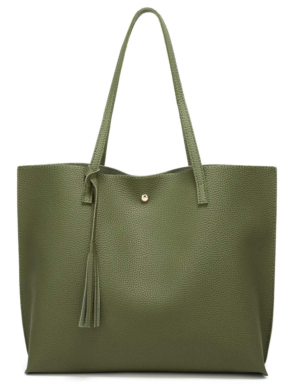 Womans Leather Tote Bag Orange Elephant Soft Capacity Shoulder Handbag