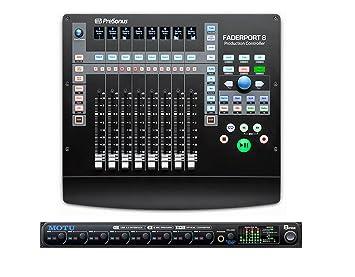 Presonus FaderPort 8 Channel DAW Controller MOTU 8pre Audio Interface