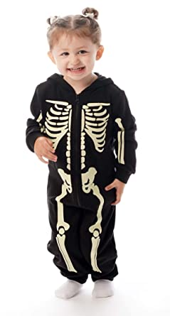 20a9cb6cc1 Amazon.com   followme Glow in The Dark Girl s Skeleton Jumpsuit ...