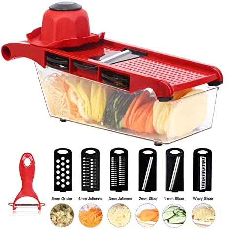 Amazon.com: Mandolina cortador de verduras, cortador de ...
