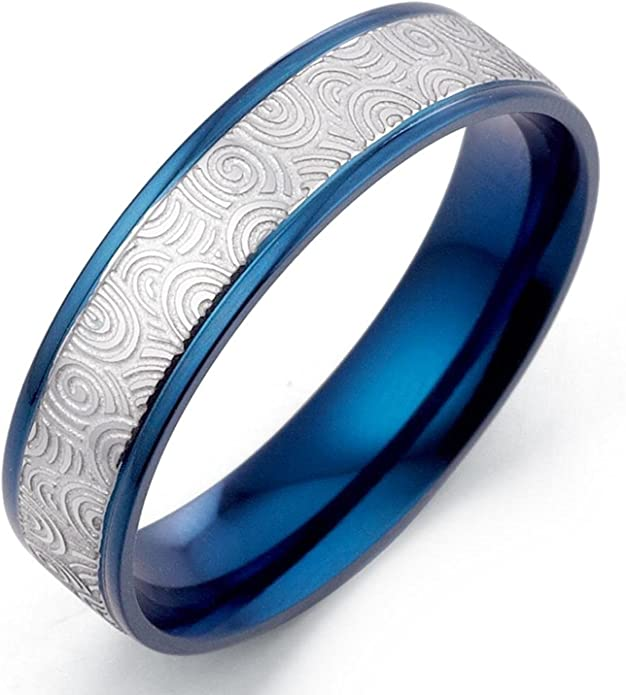 Gemini Groom /& Bride Flat Court Comfort Fit Rose Gold Titanium Wedding Rings Set Width 6mm /& 4mm Men Ring Size 11 Women Ring Size 4.5