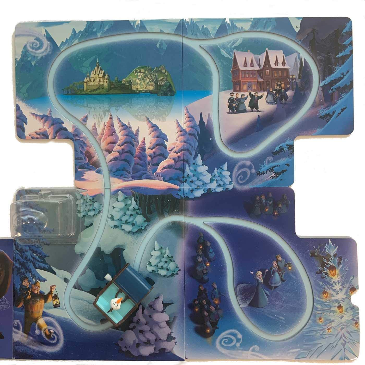 Ice Princess Elsa Winter Throne Frozen II Bag Mini Scene 30553 Bundled with Car & Activity Story Book + Plush Snowman Olaf 3 Items