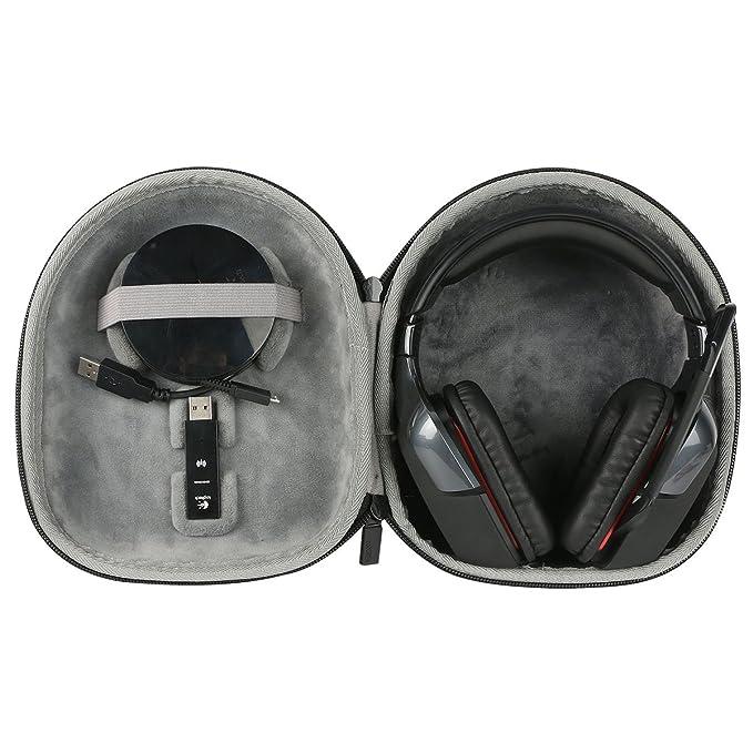 para Logitech G930 G430 G230 G35 Auriculares Gaming de diadema cerrados inalámbricos USB (con micrófono) para PC/Mac Shockproof Hard Storage Almacenamiento ...