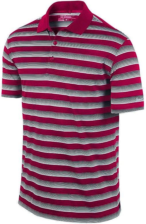 Nike Golf Tech núcleo del Hombre Polo de Rayas, Fireberry/Black ...