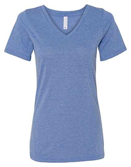 b5460b16 Amazon.com: Bella+Canvas Women's Relaxed Jersey Short Sleeve V-Neck Tee:  Clothing