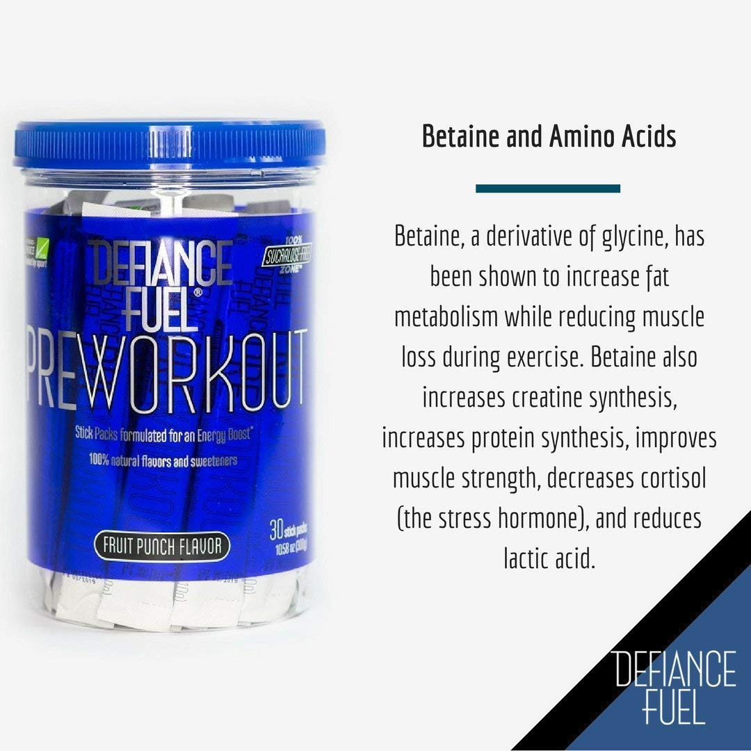 Defiance Fuel Pre Workout Powder Energy Drink w/ Beta Alanine, Taurine and Amino Acids by Defiance Fuel (Image #6)