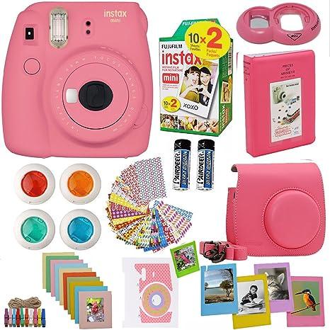 Fujifilm Instax Mini 8 Cámara instantánea Flamingo Rosa + Fuji ...