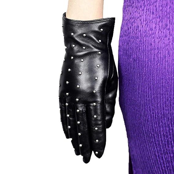 Gants Pour Femmes Rivets Écran Tactile Hiver Mode Chaud
