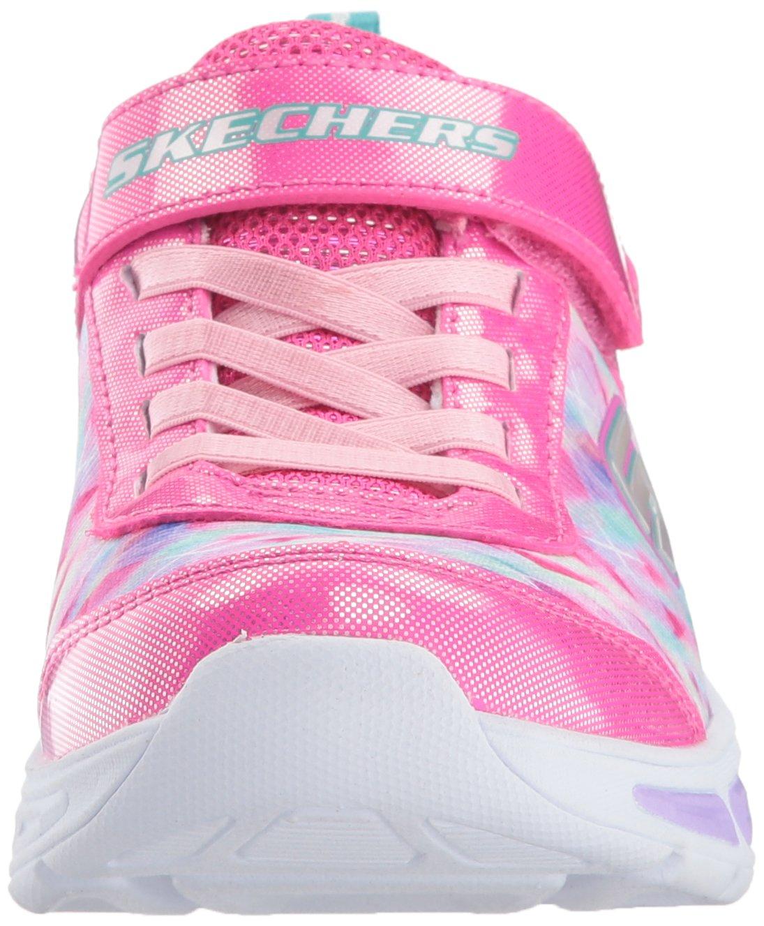 Skechers Kids Girls' Litebeams-Dance N'Glow Sneaker,neon Pink/Multi,1 Medium US Little Kid by Skechers (Image #4)