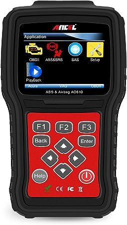OBD2 Scanner Turn Off ABS Airbag Light Live Data Engine Code Reader AD610