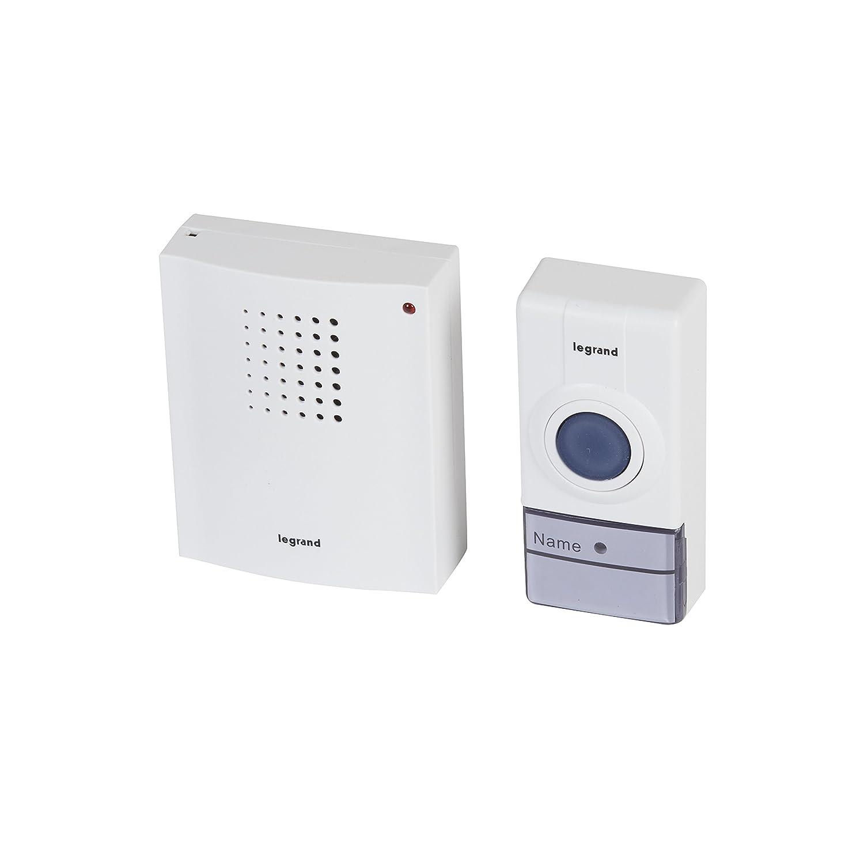 Legrand 094250 - Juego de timbre inalámbrico con 50 m de alcance, 32 melodías, protección IP44, batteriebetriebene timbre, color blanco: Amazon.es: ...