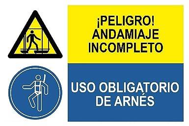 MovilCom® - Señal combinada ¡PELIGRO! ANDAMIO INCLOMPETO/USO ...