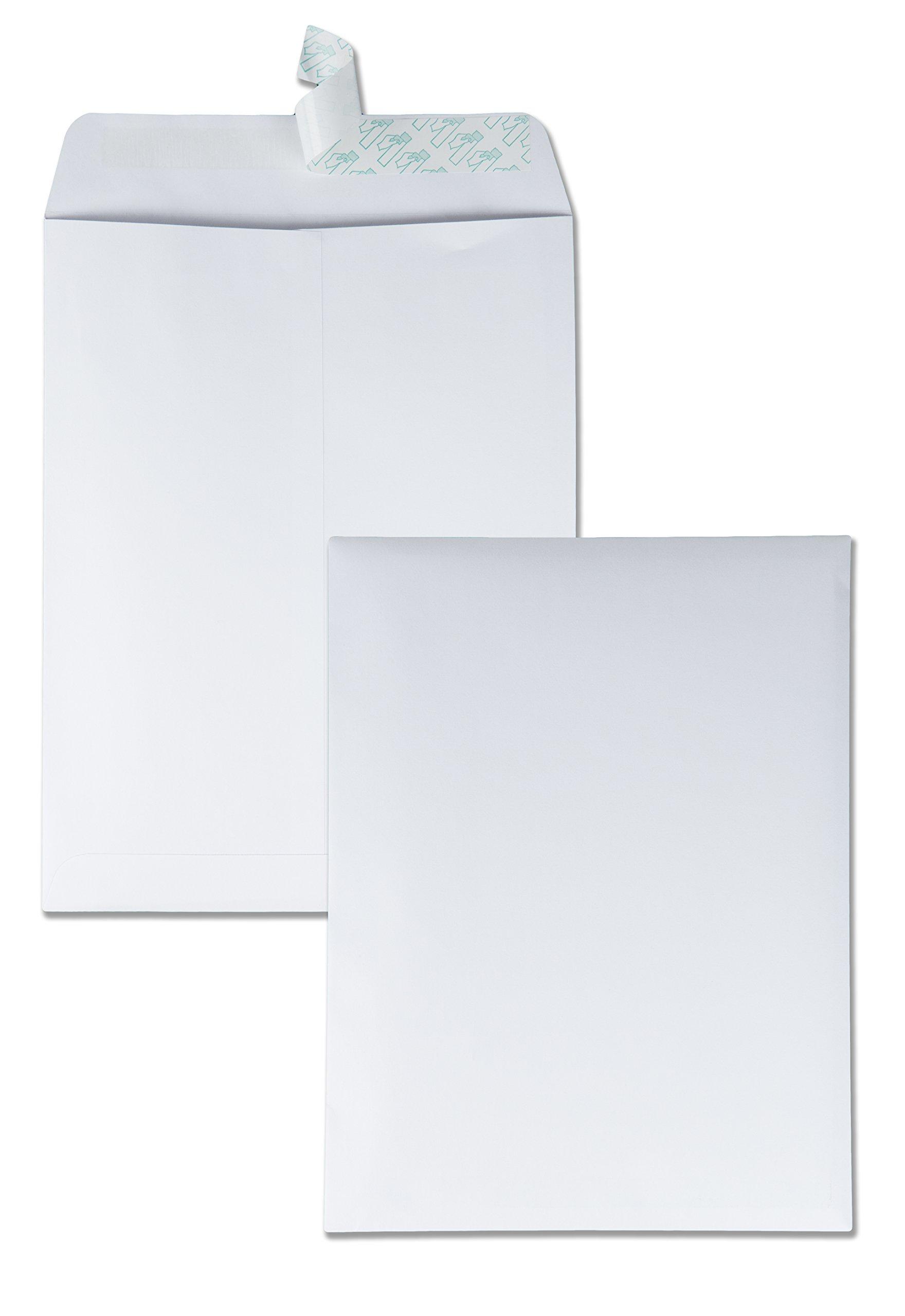 Quality Park 44682 Quality Park Redi-Strip Catalog Envelopes, 9-1/2x12-1/2, 28lb, White, 100/Box