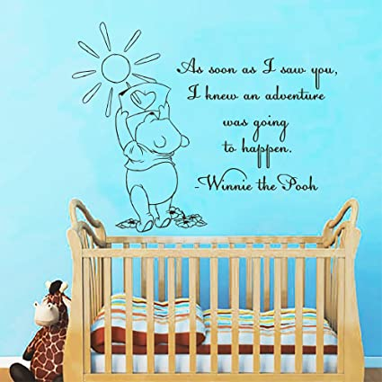 Amazoncom Wall Decals Quotes Winnie The Pooh As Soon As I Saw You