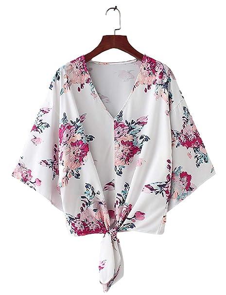 Amazon.com: BB & KK estampado Floral Bikini de playa Sheer ...