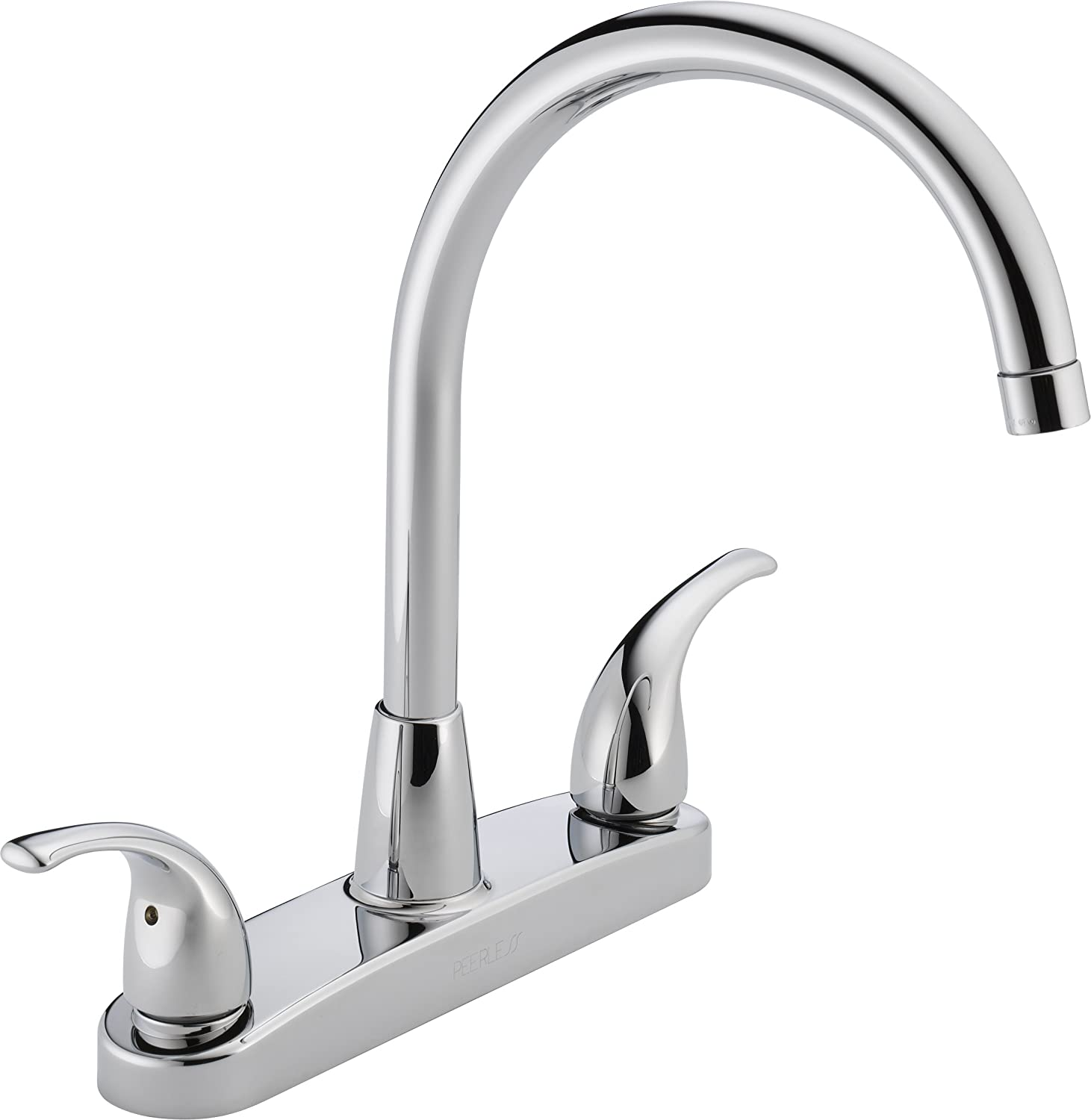 Peerless P299568LF Choice Two Handle Kitchen Faucet, Chrome   Touch On  Kitchen Sink Faucets   Amazon.com