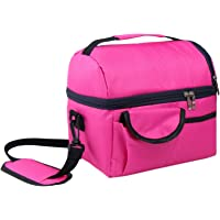 WSLCN 8 L Lunch Box Double Thicken Heat Preservation Cold Insulation Bag Ice Pack Cooler Food Storage Bag Travel Picnic…