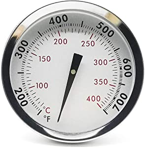WEMEIKIT 67088 Accurate Grill Thermometer for Weber Genesis 300 Series & Summit Series Grills, Center Mounted with Tab, Thermostat for Genesis E/S-310 330, Lid Temperature Gauge Replacement for Weber