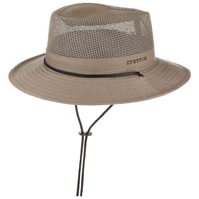 hohe Qualitätsgarantie gemütlich frisch Rabatt zum Verkauf Stetson Takani Safarihut Damen/Herren - Hut aus 100% Baumwolle - Stoffhut  mit UV-Schutz 30 - Sonnenhut mit Kinnband - Knautschbarer Netzeinsatz - ...