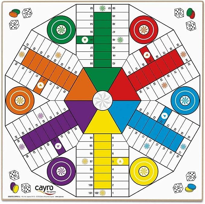 Cayro - Tablero Parchís 4 y 6 jugadores - Juego de tradicional ...