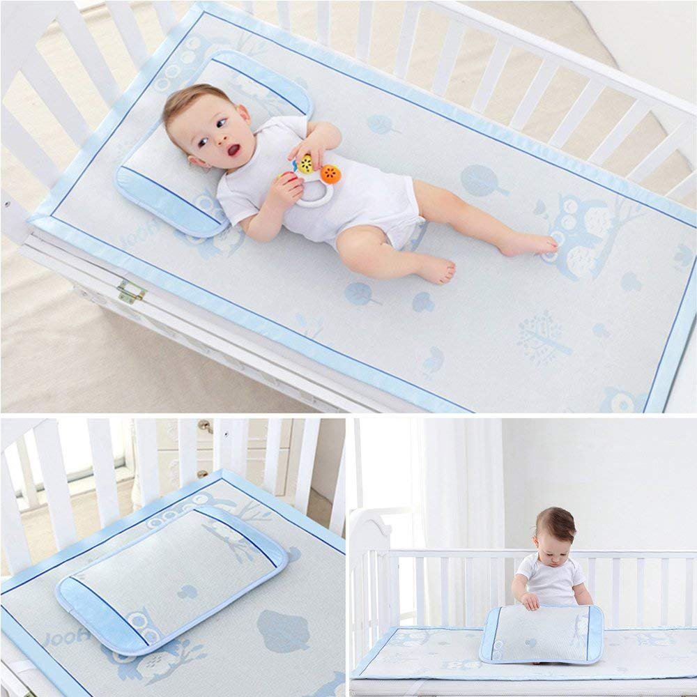 Nursery Sleep MAT /♥ Waterproof /• Triple Folding Rest Mats /• Toddler Sleeping Mattress /• Baby Nap Time /• No 1 Choice for Childminder and Daycare Individual, Blue//Cream