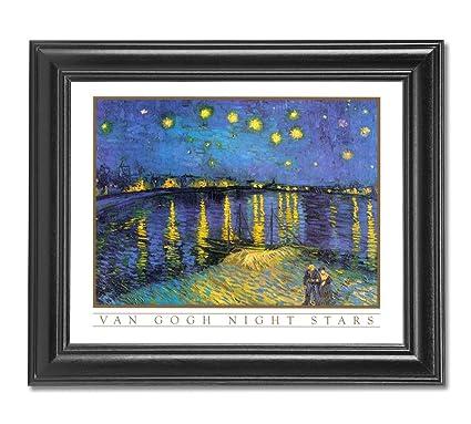 Amazon.com: Vincent Van Gogh Night Stars Wall Picture Framed Art ...
