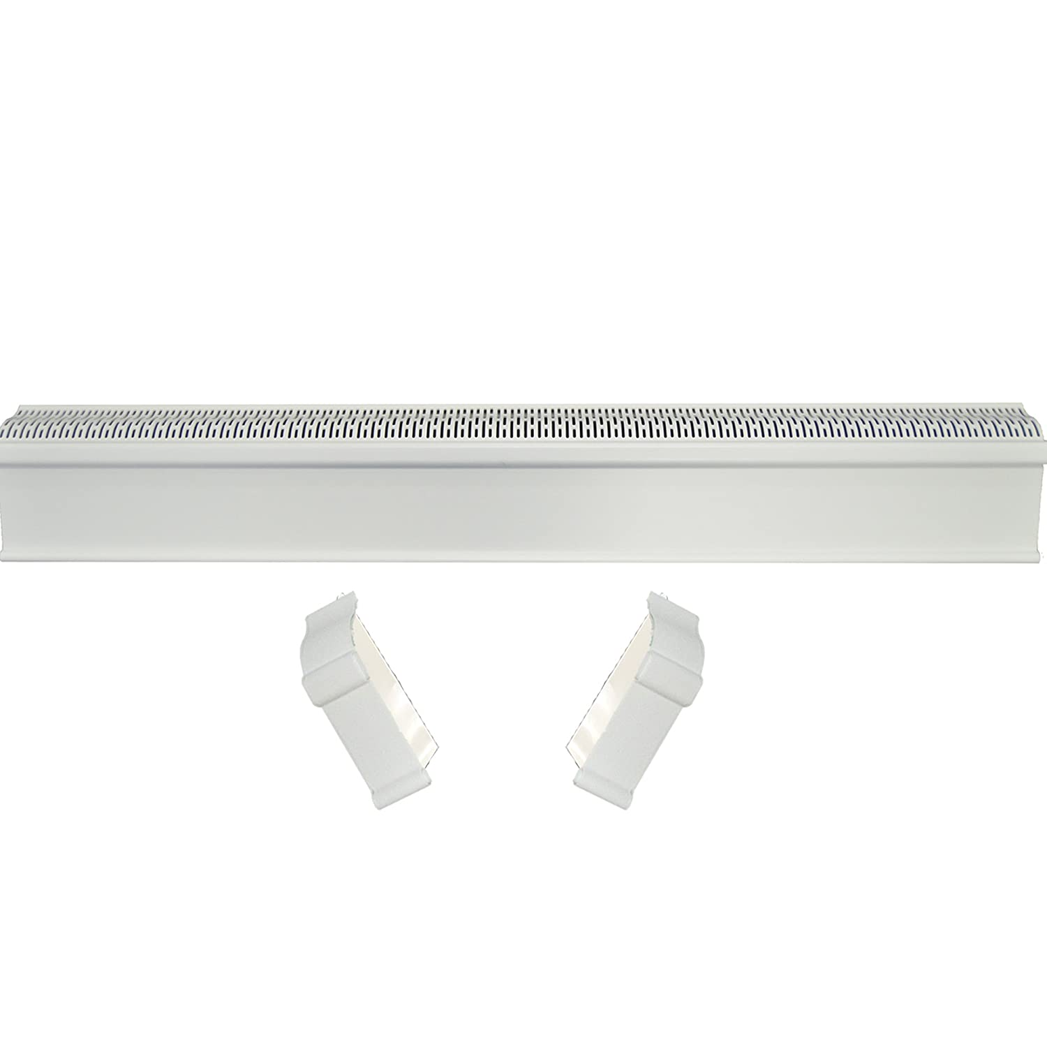 Baseboard Heat Covers, Baseboard Heater Cover WITH End Caps (Left and Right)   Hot Water Heating Cover Enclosure, Direct Replacement Kit for Slant Fin - Rust Proof/Energy Efficient - 8' White