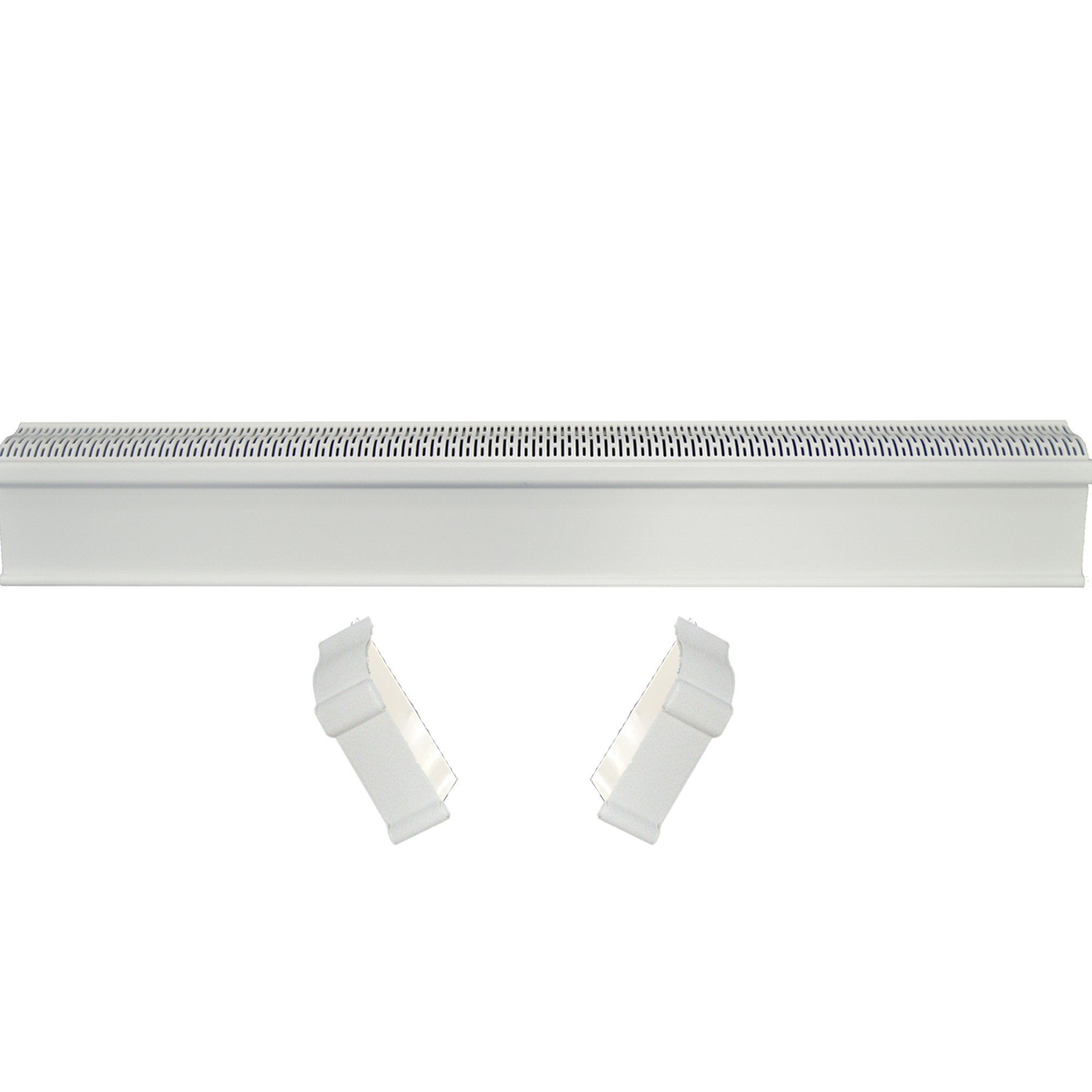 Baseboard Heater Cover COMPLETE SET - INCLUDES Right and Left End Caps | Hot Water, Hydronic Heater Slant Fin Baseboard Cover Enclosure Replacement Kit for Home - Rust-Proof Plastic - 2' White