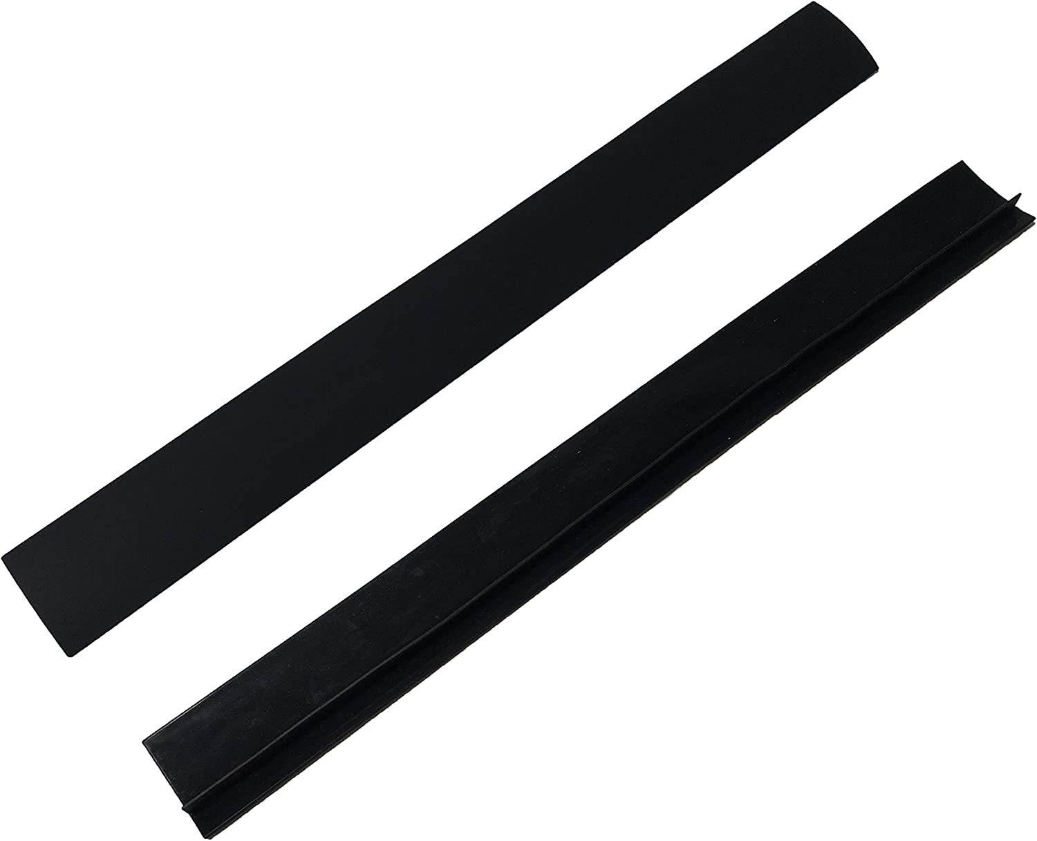 Silicone Home & Stove Counter Gap Covers - Black (Set of 2)