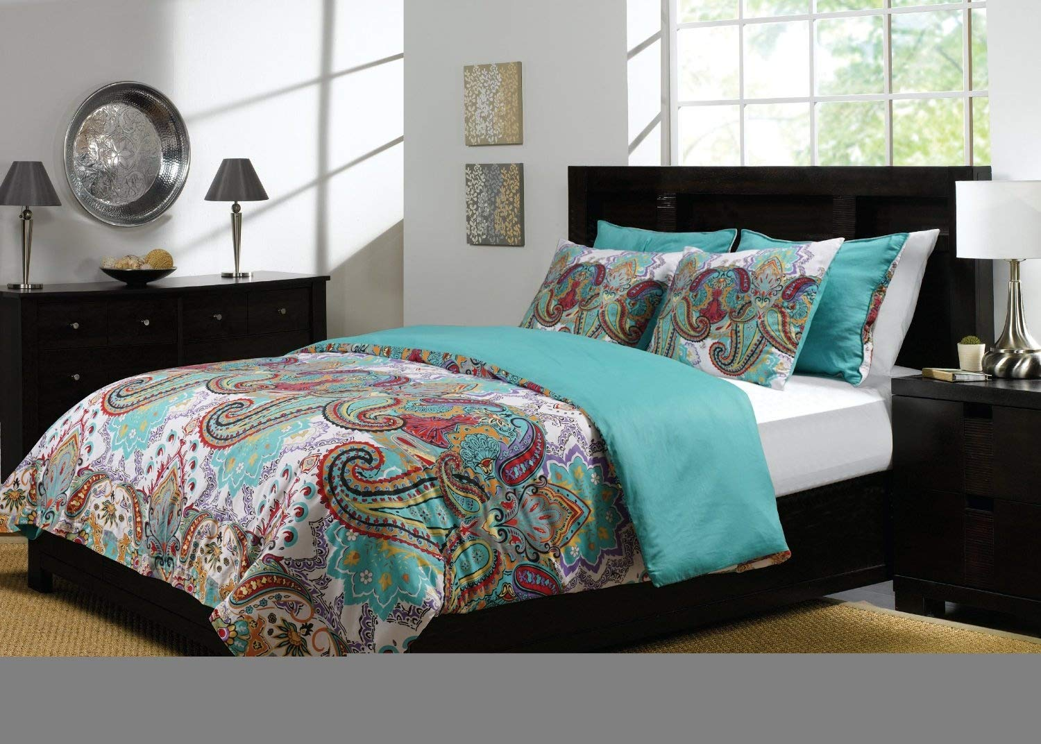 Greenland Home 3-Piece Nirvana Duvet Cover Set, King Greenland Home Fashions GL-1401PMSK